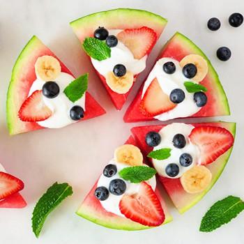 Wassermelonenpizza